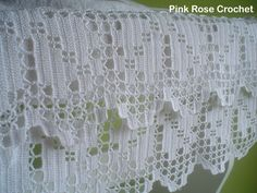 PINK ROSE CROCHET: Barrados de Crochê para Toalhas de Rosto