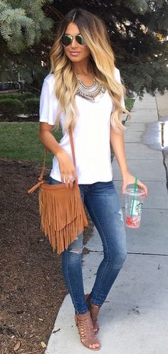 Check out these amazing summer outfit ideas with white shirt.