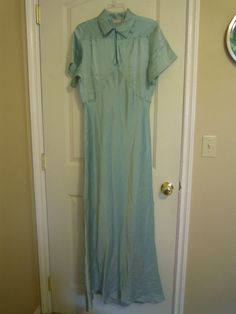 Vintage Silk Nightgown Barbizon Long 36 Green by TallulahsVintage