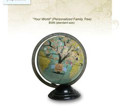"""""""Your World"""" - a personalized family tree -(only $600 ha ha)"""