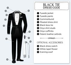 What to wear to an event with a black tie dress code. This is so helpful!