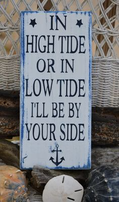 Hand Painted Wood Sign Nautical Anchor Beach Decor by CarovaBeachCrafts FB… …