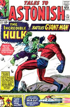 Tales To Astonish #59, September 1964, cover by Jack Kirby and Sol Brodksy