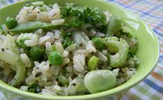 Rijstsalade met peultjes