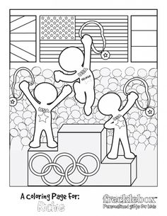 FREE Printable Olympics coloring page Personalized with your child's name!