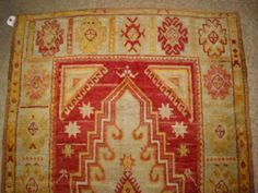 Antique Oushak Anatolian 3ft 6in x10ft 7in Rug B-7806 /2250./1920's Turkish