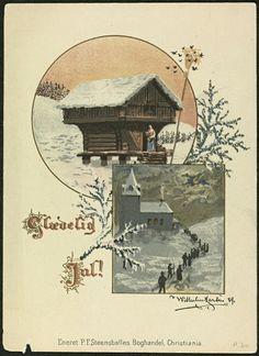 Glædelig jul 1889 Wilhelm Larsen Steensballes Boghandel
