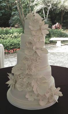 5 tier wedding cake deco - Google Search