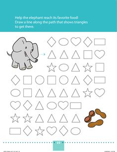 Preschool Shapes Worksheets: An Elephant Never Forgets! Pre K Worksheets, Homeschool Worksheets, Animal Worksheets, Shapes Worksheets, Homeschooling, September Preschool, Preschool At Home, Free Preschool, Preschool Shapes