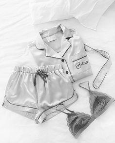 Pajamas For Women Sleepwear Flannel Nightie Ladies White Pyjamas Mens – watermelontal Cute Sleepwear, Sleepwear Women, Lingerie Sleepwear, Nightwear, Cute Pajama Sets, Cute Pjs, Cute Pajamas, Slep Dress, Pijamas Women