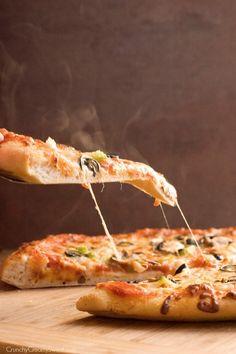 Hot Slice of Pepperoni Pizza - Homemade Pepperoni Pizza
