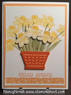 Stampin Up Spring Card featuring Basket Bundle. #Basketbundle, Could also be a great Easter Card