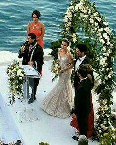 Burak Ozcivit and Fahriye Evcen got married in Sait Halim Pasha Mansion, Istanbul on June Wedding Proposals, Wedding Poses, Wedding Engagement, Bridesmaid Dresses, Wedding Dresses, Turkish Actors, Got Married, Lace Dress, Wedding Inspiration