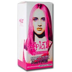 Splat his and her rebellious #hair color complete kit with bleach, pink fetish - 1 kit
