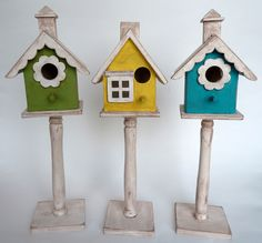 painted bird houses photos | friend of mine sent me a link to cute bird houses here and I knew I ...