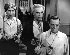 Bela Lugosi, Boris karloff, and Peter Lorre - an evil trio