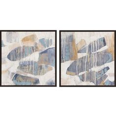 Orbs Dissolve , Framed Abstract Artwork By: Goldberger, Set of Two