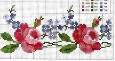 Cross Stitch Bird, Cross Stitch Borders, Cross Stitch Flowers, Cross Stitch Charts, Cross Stitch Designs, Cross Stitching, Cross Stitch Patterns, Embroidery Patterns Free, Diy Embroidery