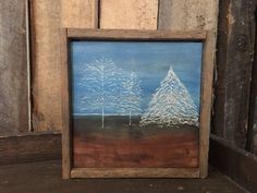 Tree Art - Rustic Home Decor - Primitive - Landscape Painting - Country Decor - Cabin Decor - Wood Art - Engraved Art