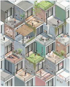 Architecture Concept Diagram, Architecture Graphics, Landscape Architecture, Interior Architecture, Modernisme, Architecture Visualization, Building Design, Urban Design, Design Projects