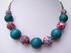 Red and Turquoise Necklace £12.00