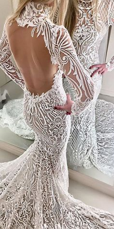 24 Mermaid Wedding Dresses From Top World Designers ❤ See more: http://www.weddingforward.com/mermaid-wedding-dresses/ #wedding #dresses #mermaid #mermaidweddingdresses #designerweddingdresses