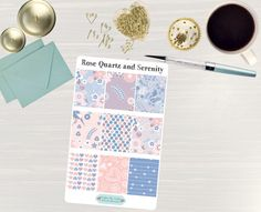 Pinning so I don't forget!! Remember to go back and check out Crafted By Corley on Etsy. Rose Quartz and Serenity Designer Full Box Sticker - Erin Condren Vertical and Horizontal Life Planner Stickers Happy Planner Stickers by CraftedByCorley