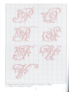 ru / Фото - belles lettres au point de croix - leads to other letters & other ideas. Cross Stitch Alphabet Patterns, Embroidery Alphabet, Cross Stitch Letters, Cross Stitch Love, Embroidery Monogram, Cross Stitch Charts, Cross Stitch Designs, Embroidery Patterns, Hand Embroidery