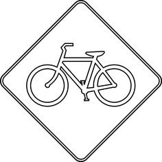 Bicycle Crossing, Outline | ClipArt ETC