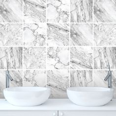 Marble Tile Stickers Transfers for Kitchen, Bathroom - Various Size Options - M1