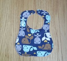 Whale Bib  Infant Bib  Baby Shower Gift  New Mom by Sewing4Babies