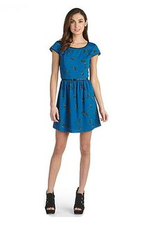 Kensie hummingbird a-line dress