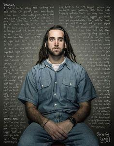 """""""REFLECT"""" de Trent Bell : des condamnés emprisonnés écrivent des lettres de conseils à leurs moi du passé… 2013"""