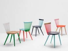 Lacquered oak chair WW COLOUR SERIES by H Furniture