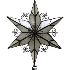 Elegant Holiday Time Metal Star Christmas Tree Topper ** Check out this great product.