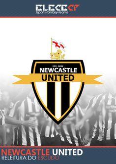 Re-leitura do tradicional escudo do Newcastle United. Ou novo castelo unido.