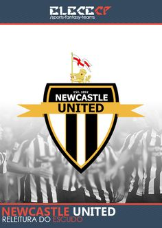Re-leitura do tradicional escudo do Newcastle United. Ou novo castelo unido.