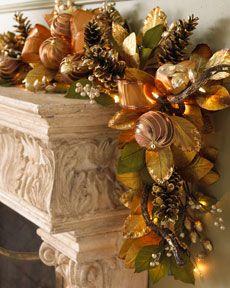 Bronze Christmas Garland. Elegant, sophisticated and definitely says Christmas.