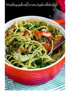 Spaghetti con friarielli e gamberoni