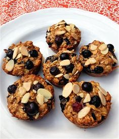 clean & healthy honey almond blueberry oat protein muffins - The Kitchen Table - The Eat-Clean Diet®