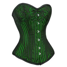 *love* Vintage Burlesque Green Corset *Promotion*