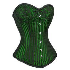 *love* Vintage Burlesque Green Corset *Promotion*