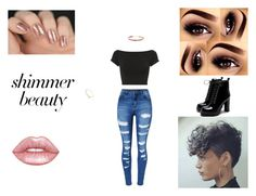 """So my color."" by bunny-rosette on Polyvore featuring Helmut Lang, WithChic, Lime Crime, Humble Chic and shimmerbeauty"