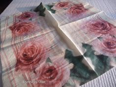Decoupage napkins roses vintage retro old by ShimmeringCloud