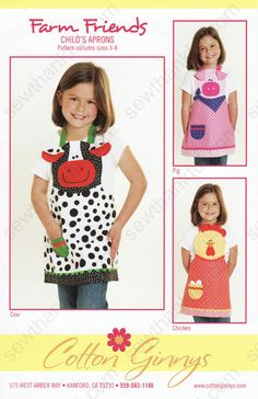 Farm Friends Apron sewing pattern from Cotton Ginnys