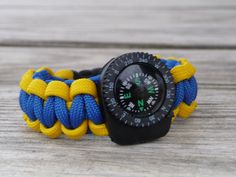 Cub Scout Paracord Survival Bracelet with Liquid Compass by Ruxy7
