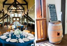 Beautiful decor for one of our harvest Barn wedding  Photography by: Rachel May