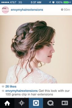 Whimsical Braid Vintage Wedding Hair