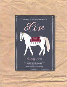 Printable Horse / Equestrian Birthday Invitation by FrellaDesigns on Etsy