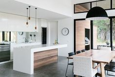 #kitchen #white #wood #hime #modern